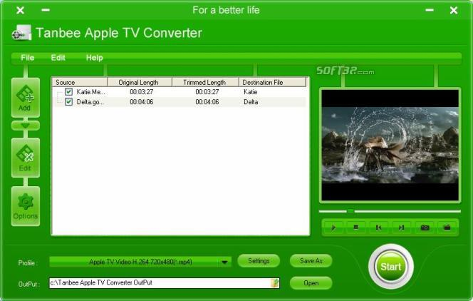 Tanbee Apple TV Video Converter Screenshot 1
