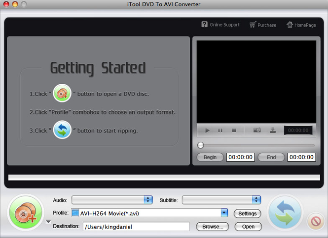iTool DVD to AVI Converter for MAC Screenshot 1