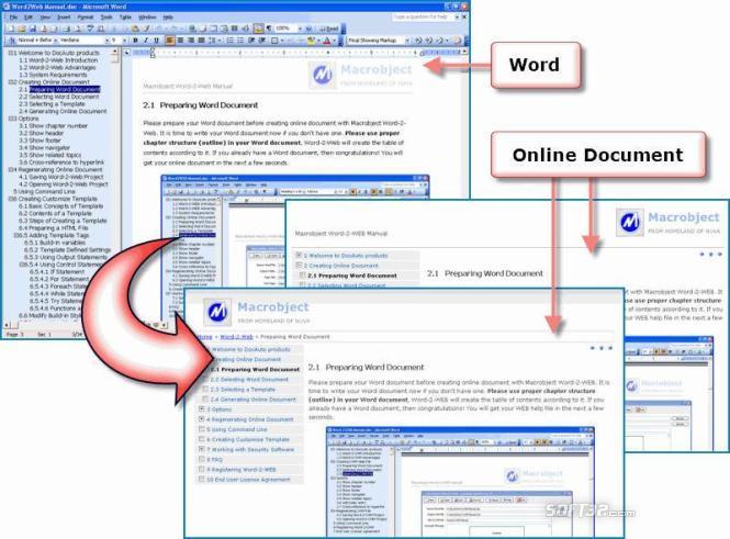 Macrobject Word-2-Web Professional 2009 Screenshot 2