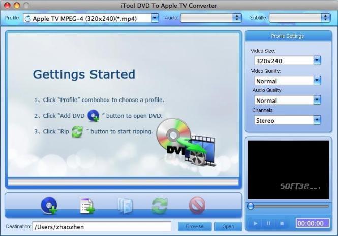 iTool DVD to Apple TV Converter for MAC Screenshot 2