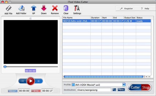 iTool Video Cutter for MAC Screenshot
