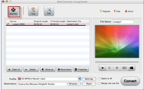 Mod Converter for Mac Screenshot 1
