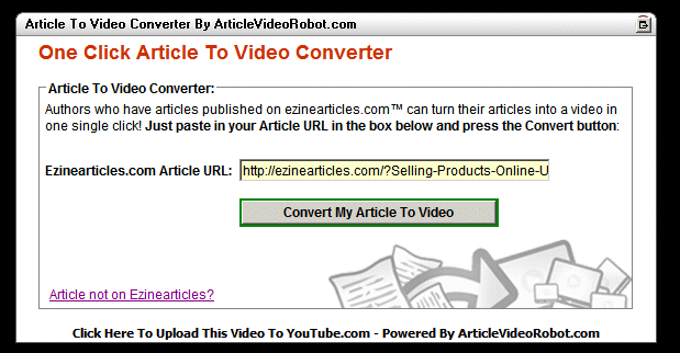 Article to Video Converter Screenshot 2