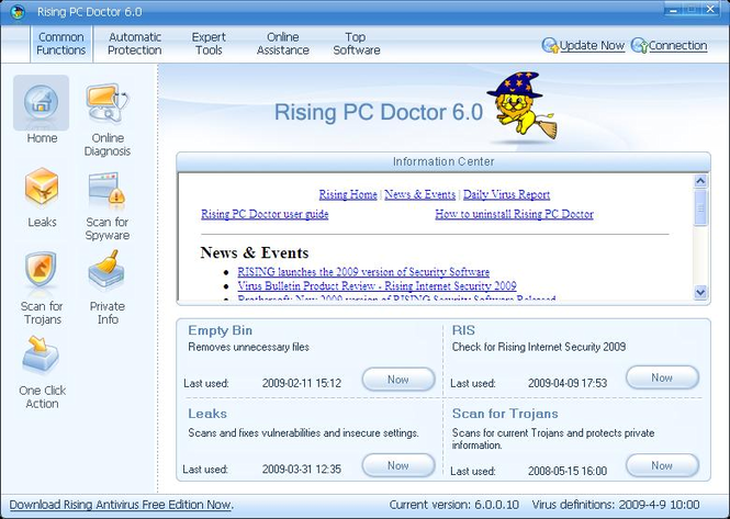 Rising PC Doctor Screenshot