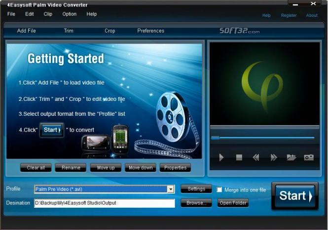 4Easysoft Palm Video Converter Screenshot 3
