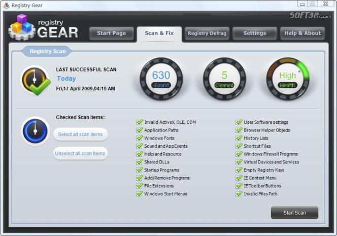 Registry Gear Screenshot 3