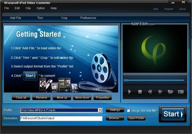 4Easysoft iPod Video Converter Screenshot 3