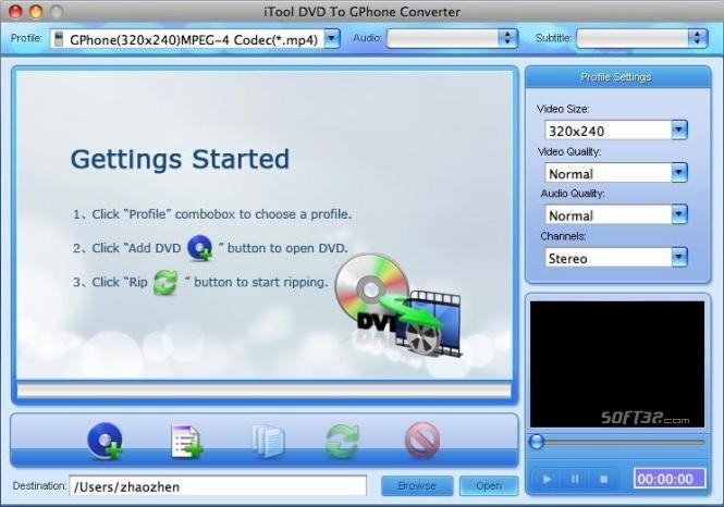 iTool DVD To GPhone Converter for MAC Screenshot 3