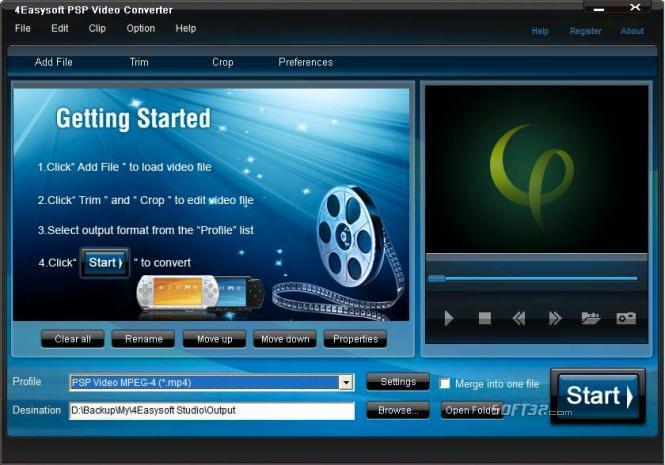 4Easysoft PSP Video Converter Screenshot 3