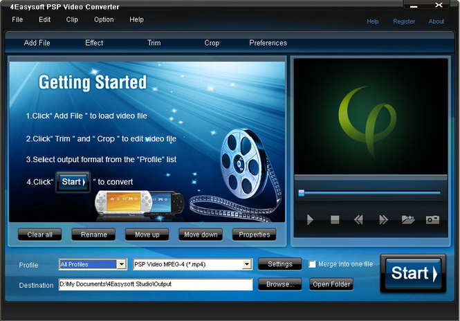 4Easysoft PSP Video Converter Screenshot
