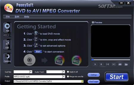 PeonySoft DVD to AVI MPEG Converter Screenshot 3
