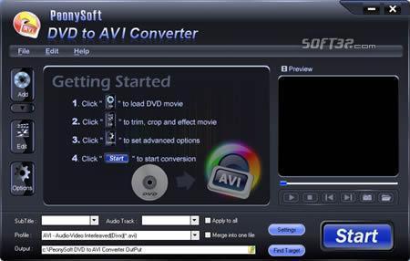 PeonySoft DVD to AVI Converter Screenshot 3