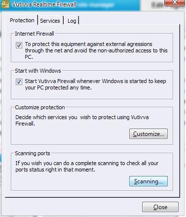 Vuttiva Firewall Screenshot