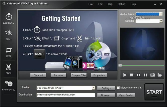 4Videosoft DVD Ripper Platinum Screenshot 2