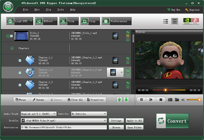 4Videosoft DVD Ripper Platinum Screenshot