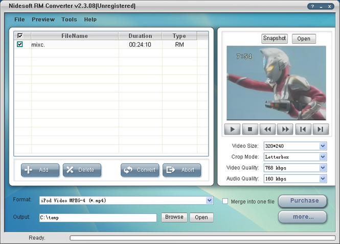 Nidesoft RM Converter Screenshot 1