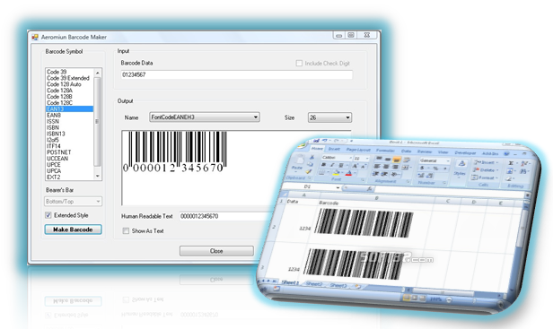 Aeromium Barcode Fonts Screenshot 2