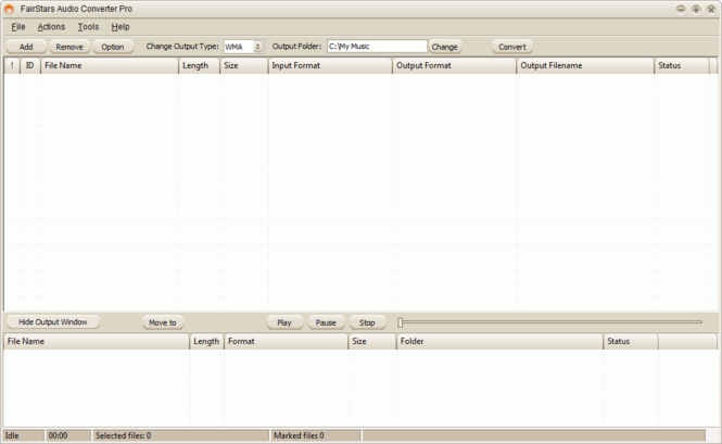 FairStars Audio Converter Pro Screenshot 3