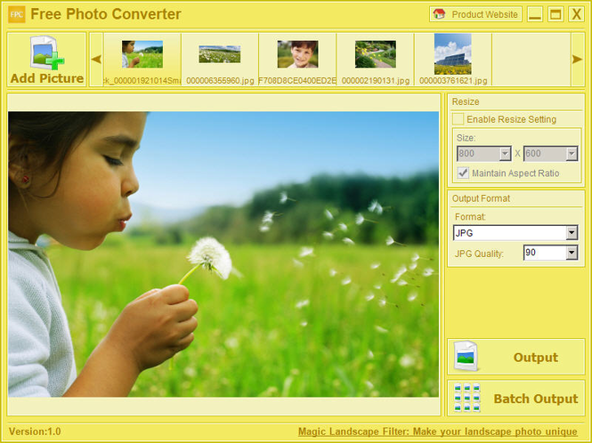 Free Photo Converter Screenshot