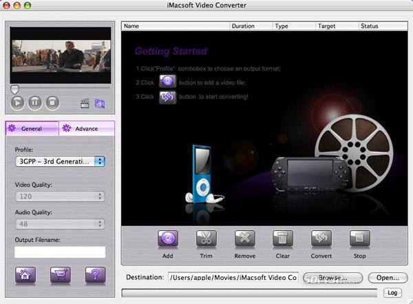 iMacsoft Video Converter for Mac Screenshot 2