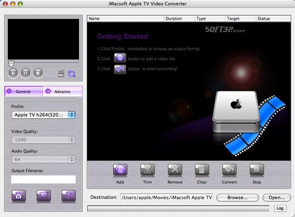 iMacsoft Apple TV Video Converter for Mac Screenshot 2