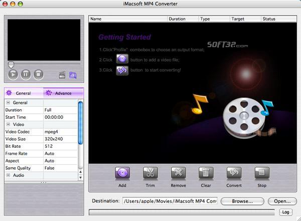 iMacsoft MP4 Converter for Mac Screenshot 2