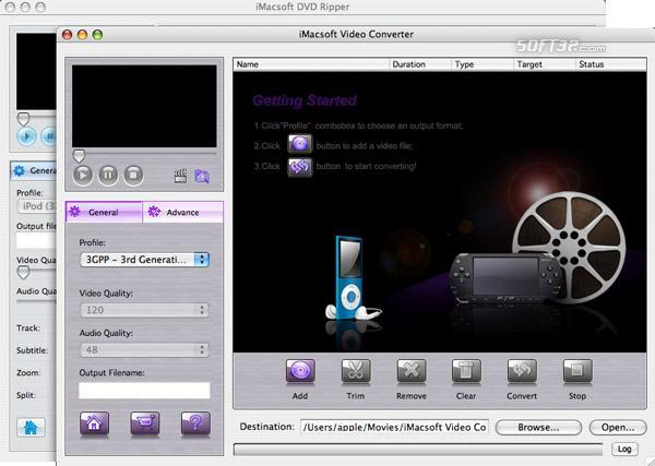 iMacsoft DVD Ripper Suite for Mac Screenshot 2