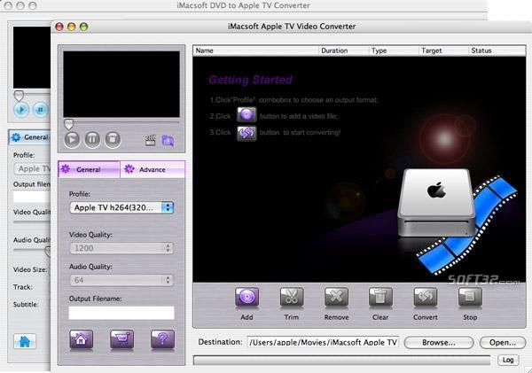 iMacsoft DVD to Apple TV Suite for Mac Screenshot 2