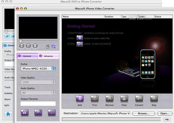 iMacsoft DVD to iPhone Suite for Mac Screenshot 3