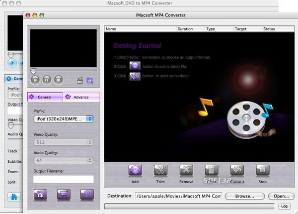 iMacsoft DVD to MP4 Suite for Mac Screenshot 3