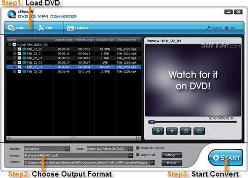 iSkysoft DVD to MP4 Converter Screenshot 2