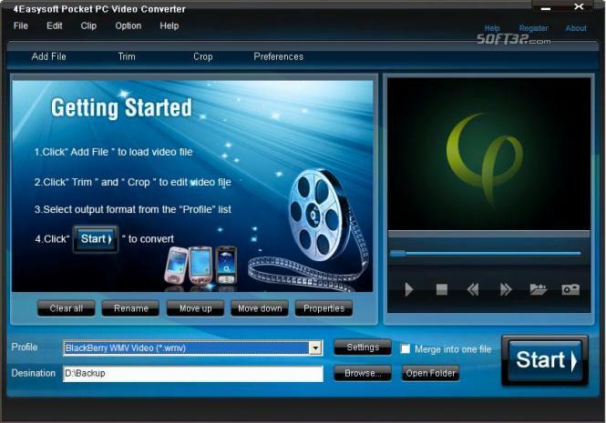 4Easysoft Pocket PC Video Converter Screenshot 3