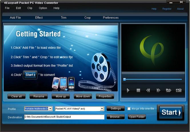 4Easysoft Pocket PC Video Converter Screenshot