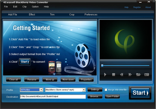 4Easysoft BlackBerry Video Converter Screenshot 1