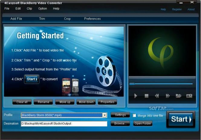 4Easysoft BlackBerry Video Converter Screenshot 3