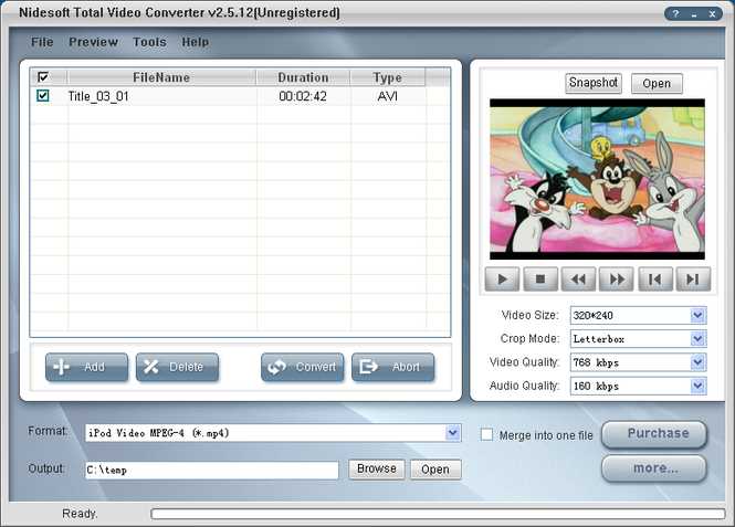 Nidesoft Total Video Converter Screenshot 1