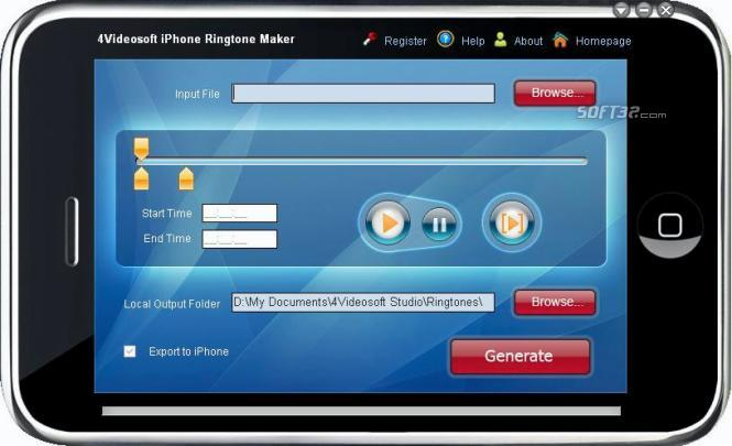 4Videosoft iPhone Ringtone Maker Screenshot 3