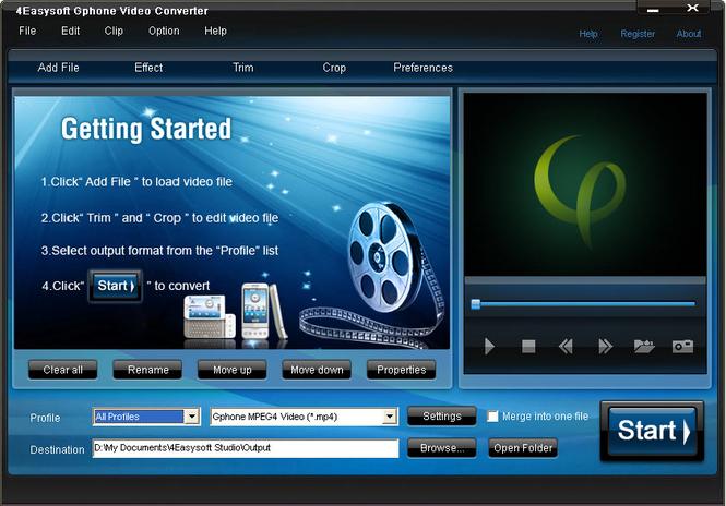 4Easysoft Gphone Video Converter Screenshot