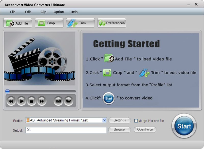 Aceconvert Video Converter Ultimate Screenshot