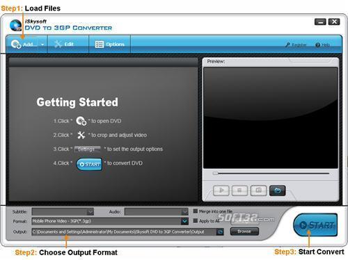 iSkysoft DVD to 3GP Converter Screenshot 2