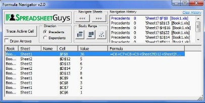 Formula Navigator Screenshot
