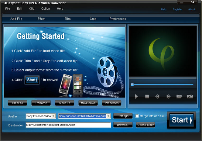 4Easysoft Sony XPERIA Video Converter Screenshot