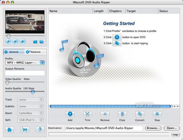 iMacsoft DVD Audio Ripper for Mac Screenshot 3