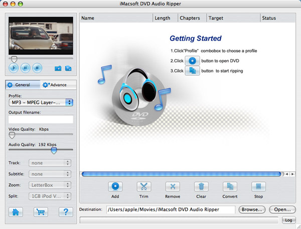 iMacsoft DVD Audio Ripper for Mac Screenshot 2