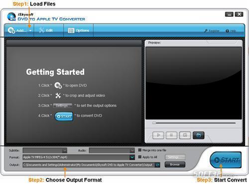 iSkysoft DVD to Apple TV Converter Screenshot 2