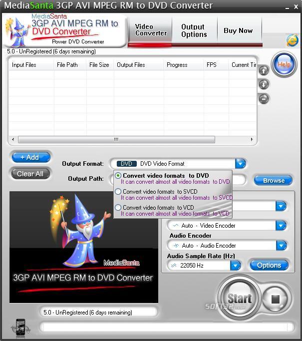 MediaSanta 3GP AVI MPEG RM to DVD Converter Screenshot 3