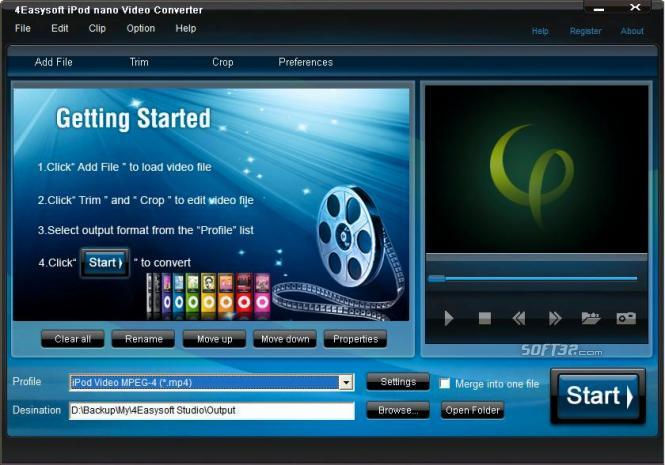 4Easysoft iPod nano Video Converter Screenshot 3