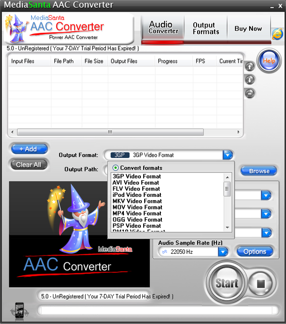 MediaSanta AAC Converter Screenshot