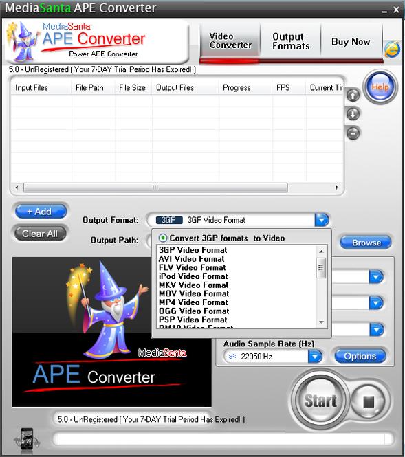 MediaSanta APE Converter Screenshot