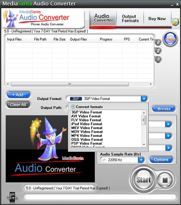 MediaSanta Audio Converter Screenshot 1